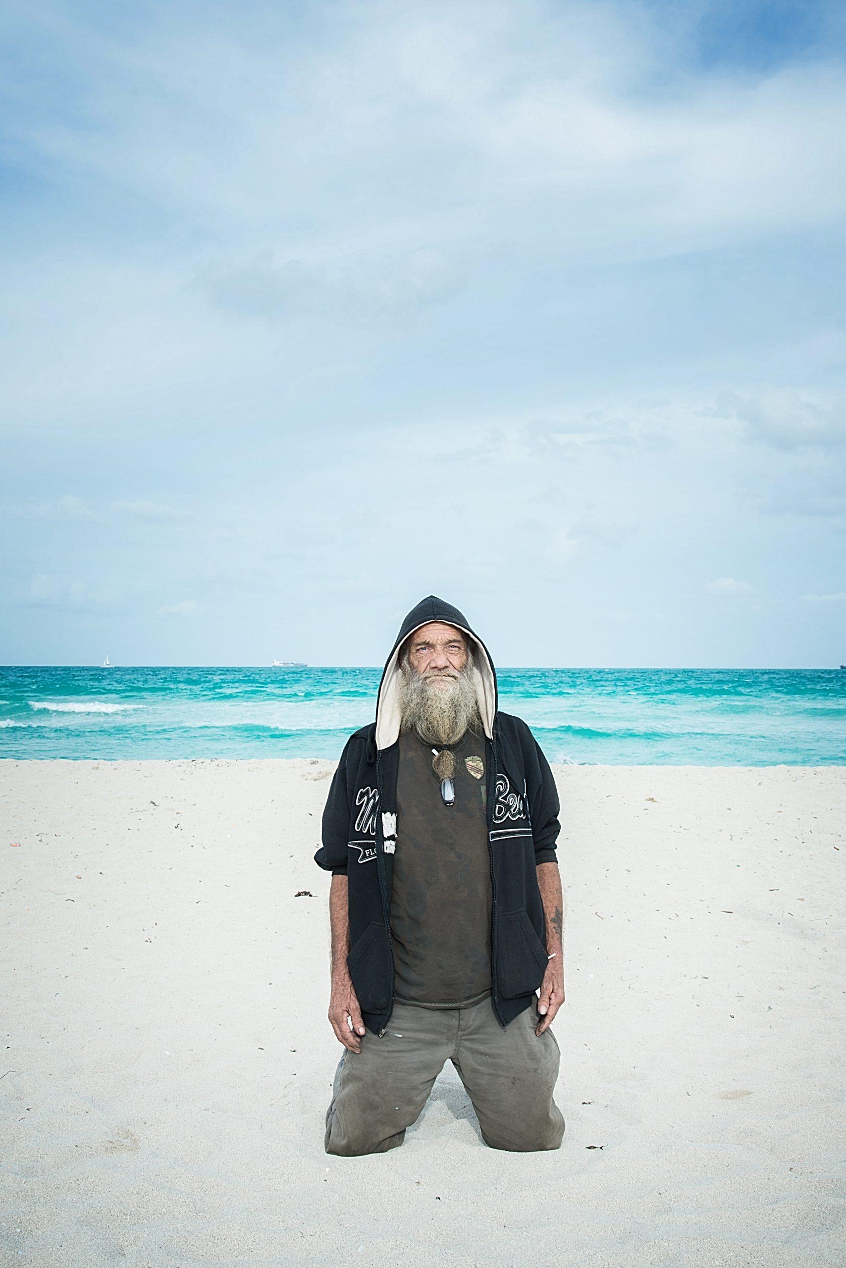 Homeless on the Miami beach