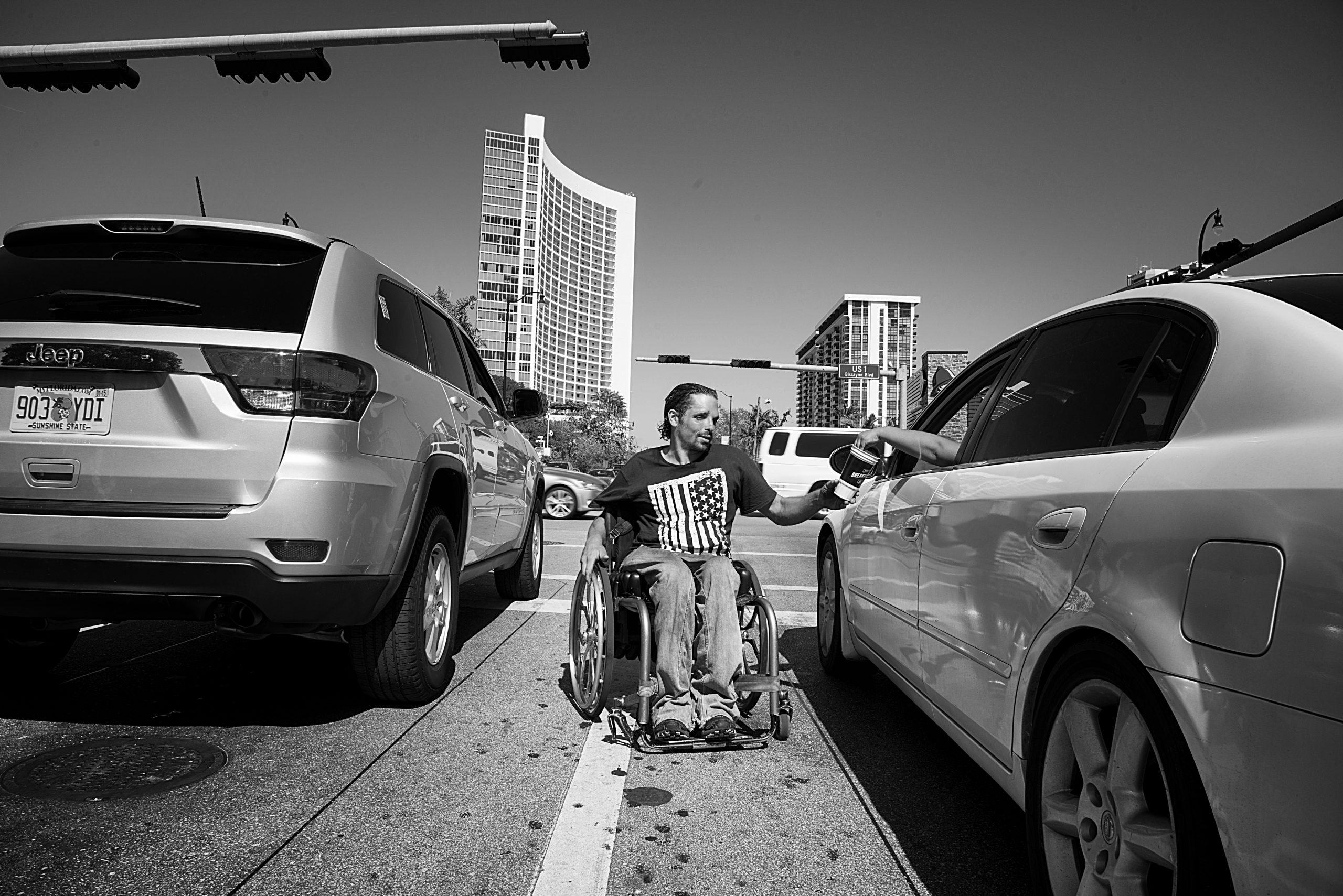 Homeless between cars